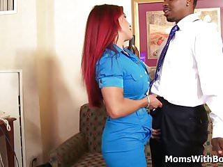 Hugh penetration Busty redhead mom helena hughes fucking big black cock
