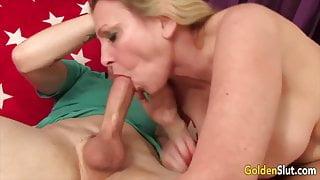 Golden Slut - Gorgeous Grandma Cala Craves Compilation 1