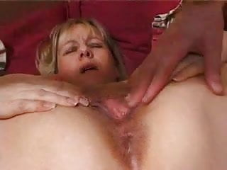 Mum cum - British mum fucked in the ass until cum