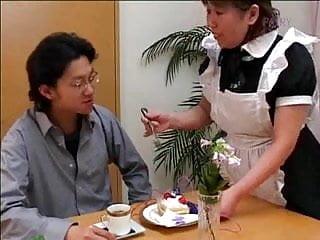 Hairy maid - Japanese hairy grannie maid