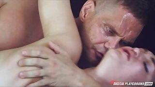 Stunning flexible brunette Holly Michaels loves rough-sex