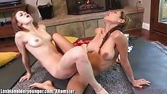 LesbianOlderYounger Teen Tribs MILF at Yoga