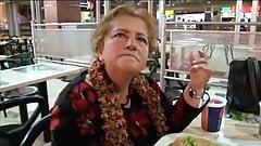 Fat White Grandma Gets Split Wide Open