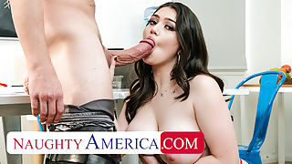 Naughty America - Alyx Star becomes her boss' muse and fucks