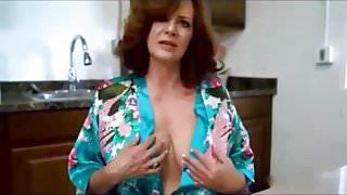 redhead stepmom sucks cock