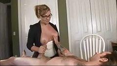 hot milf shrink nice tits and nips hj to giant fake cs