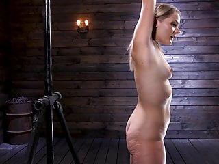 Slut whipped Blonde anal slut squirts and suffers in bondage