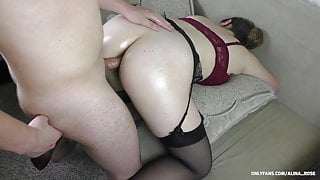 Teen schoolgirl moans in pain from first anal sex - creampie