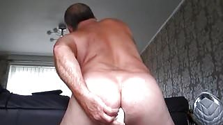 PLASTIC PIPE SHOVED UP ASS HOLE FOR PLEASURE