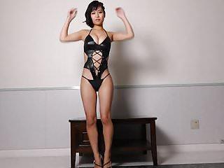 Sports celebrity nude videos - Miyu dancing - shiny bodysuit non-nude