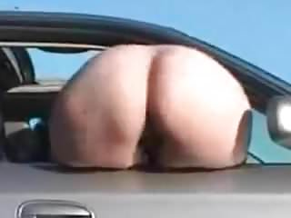 Fat ass bootie Fat ass white booty mooning out the car