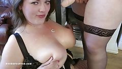 BBW Lesbian gets rough face fucking by her girlfriend with huge tits
