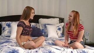 Dani Jensen and Kimberly Brix are sexy lesbian teens fucking