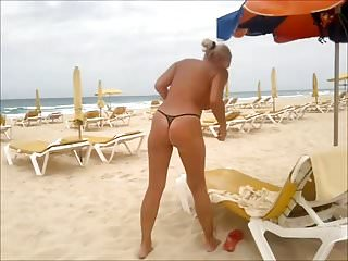 Ix27m the only gay eskimo in my tribe - On the beach - only in my micro thong