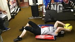 WWE - Paige working out in gym