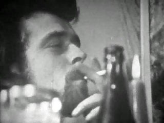 Vintage w piston compressor Vintage - bw film circa 1970