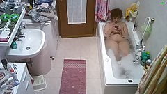 My wife takes a bath