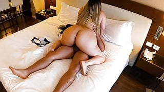 Perfect Girl with a Thick Ass Wants All His Cum In Her Mouth