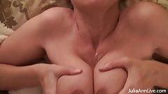 Beautiful Boobjob By Big Boobed Julia Ann Busts Big Balls!