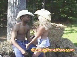 Orgy farm Granny gets a bbc and hot cum at the farm