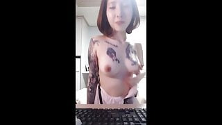 Korean tattoo lady