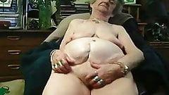 72yo Granny masturbates on webcam