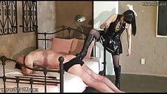 Japanese Mistress Cane Hard Her Slave