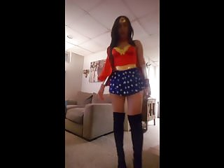 Sexy wonder woman pictures Hot sexy latina wonder woman rides big dildo on cam