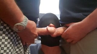 Double teamed by Justsuckme7 and another hung daddy