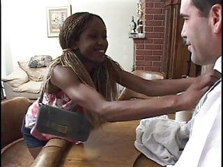 Sex n chocolate Chocolate girl bent over and gets anal sex with bar man