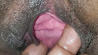 Gray haired black granny squirting