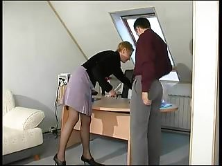 Milf drilled Blonde milf drilled in her black pantyhose