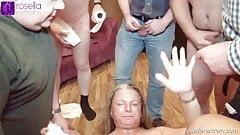 Santa Rosella empties your balls and bladder! Part 4