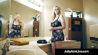Milking Mommy Julia Ann Sucks & Fucks Raging Rock Hard Cock!