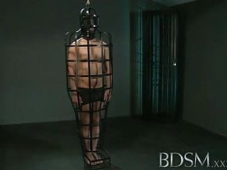 Monkey spank xxx Bdsm xxx caged slave boy gets hardcore treatment
