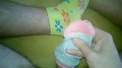 Cum on sweet yellow girl socks!!