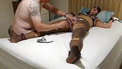 Pantyhose Pig Carol in Bondage