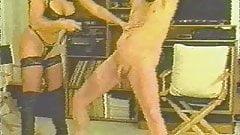 Vintage Mistress whipping slaves cock and balls CBT KOLI