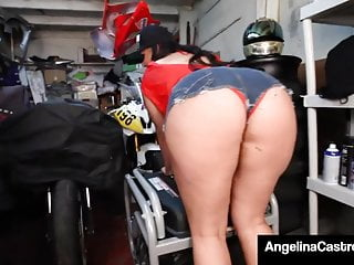 Asian exporter product wholesale - Curvy cuban export angelina castro blows hard grease monkey