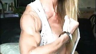 Skinny muscle girl