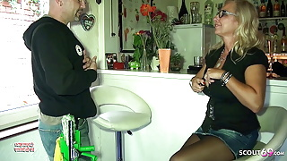 Big Tits German Mom Pay The Window Cleaner with Sex