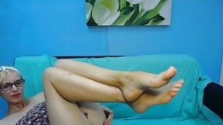 Nerd Feet in Face