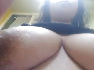 Breast feeding with large nipples Milk squeezed from inverted nipples on large breast girl