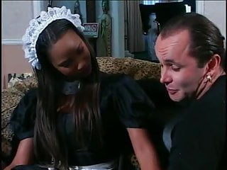 Black sexy man - Man has to fuck sexy maid first