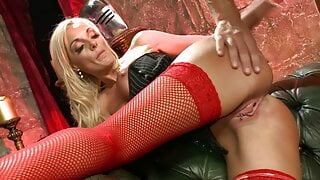 Stacey delivers a superb blowjob before getting bonked rough