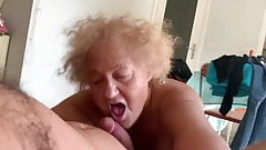 80YO, GREY HAIRED GRANNY KAIT IS SUCKING ME