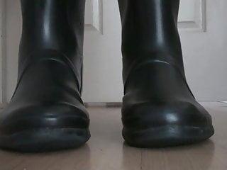 Corset fetish rubber Hunter boots fetish, rubber boots fetish