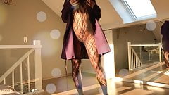 luxury girl in Burberry trenchcoat strips - projectsexdiary