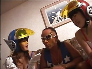 Gay thai helicopter fuck - Japanese threesome with helicopter man