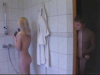 Shower sex young - Bros and the shower lady